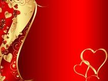 Marco ondulado abstracto del corazón Imagenes de archivo