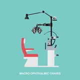 Marco Ophthalmic Chairs Imagens de Stock Royalty Free