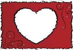 Marco original con el corazón Ilustración del Vector