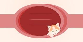 Marco original con un gatito Foto de archivo libre de regalías