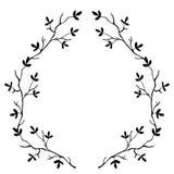 Marco original de alta calidad de las ramas del árbol aislado stock de ilustración