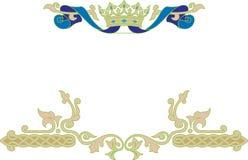 Marco ornamental con la corona Imagen de archivo libre de regalías