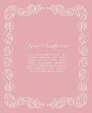 Marco ornamental con las rosas Fotos de archivo libres de regalías
