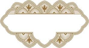 Marco ornamental en estilo oriental Fotografía de archivo libre de regalías