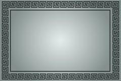 Marco ornamental griego en gris Imagen de archivo