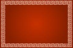 Marco ornamental griego en rojo libre illustration