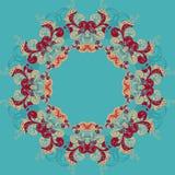 Marco ornamental redondo, ejemplo del vector Fotografía de archivo