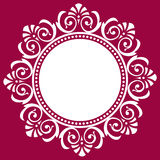Marco ornamental redondo, ejemplo del vector Foto de archivo libre de regalías
