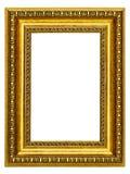 marco Oro-modelado para un cuadro Fotografía de archivo libre de regalías