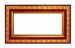 Marco oscuro de madera de los tonos del oro del marco Imágenes de archivo libres de regalías
