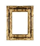 Marco oscuro de madera de los tonos del oro del marco Imagen de archivo libre de regalías