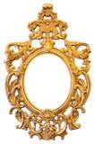 Marco oval adornado del oro Imágenes de archivo libres de regalías