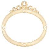 Marco oval aislado del espejo Imagen de archivo libre de regalías