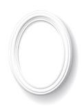 Marco oval blanco. Imágenes de archivo libres de regalías