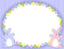 Marco oval de los huevos de Pascua stock de ilustración