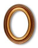 Marco oval de oro fotografía de archivo libre de regalías