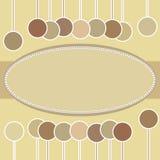 Marco oval decorativo. Foto de archivo