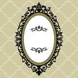 Marco oval decorativo de la vendimia Fotos de archivo libres de regalías