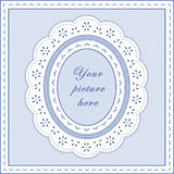 marco oval del azul de bebé de +EPS, fondo inconsútil