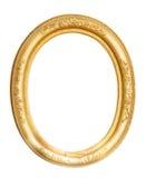 Marco oval del oro imagenes de archivo