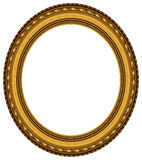 Marco oval del oro Fotos de archivo libres de regalías