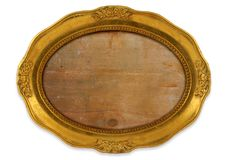 Marco oval dorado Imagen de archivo