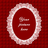 marco oval rojo del cordón de +EPS, fondo inconsútil Foto de archivo