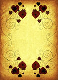Marco oxidado de la tarjeta del día de San Valentín Fotografía de archivo libre de regalías