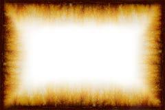 Marco oxidado de la vendimia de Grunge con el fondo blanco Fotos de archivo libres de regalías