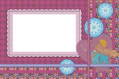 Marco púrpura Imágenes de archivo libres de regalías