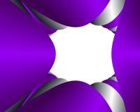 Marco púrpura y de plata Imagen de archivo libre de regalías