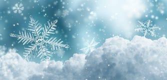 Marco płatki śniegu Zdjęcie Royalty Free
