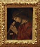 Marco Palmezzano: Gesù che porta l'incrocio Immagine Stock Libera da Diritti