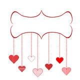 Marco para el día de tarjeta del día de San Valentín Imágenes de archivo libres de regalías