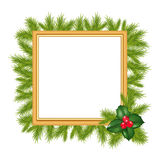 Marco para la foto con la ramificación del árbol Imágenes de archivo libres de regalías