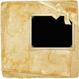 Marco para la foto o invitación con el arqueamiento Fotografía de archivo libre de regalías
