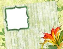 Marco para la foto o la enhorabuena Imagen de archivo libre de regalías