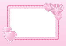 Marco para la tarjeta del día de San Valentín Fotos de archivo