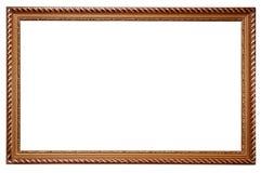 Marco para las pinturas de madera Imágenes de archivo libres de regalías
