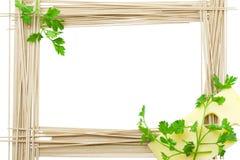 Marco para las recetas de un espagueti Imágenes de archivo libres de regalías