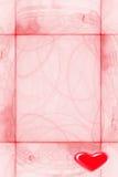 Marco para las tarjetas del día de San Valentín del día Imagen de archivo