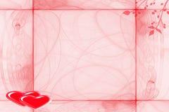 Marco para las tarjetas del día de San Valentín del día Fotografía de archivo libre de regalías