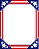 Marco patriótico de la bandera americana Imagen de archivo libre de regalías