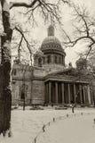 Marco Petersburgo da catedral do ` s de Isaac de Saint Foto de Stock