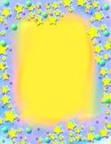 Marco pintado estrellas fugaces fotos de archivo libres de regalías