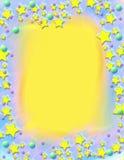 Marco pintado estrellas fugaces ilustración del vector