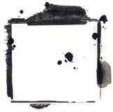 Marco pintado a mano de las técnicas mixtas del grunge Fotografía de archivo
