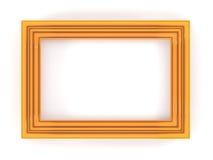 Marco plástico anaranjado Imagen de archivo libre de regalías