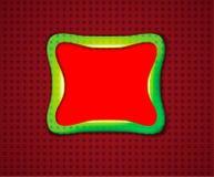 Marco plástico verde en una superficie punteada Foto de archivo