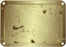 Marco plateado metálico de Grunge (vector) ilustración del vector